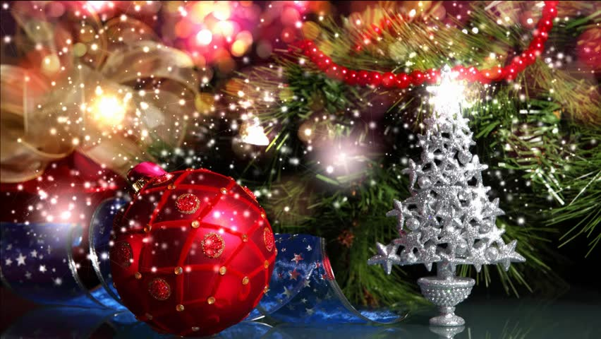 Beautiful Christmas Decoration Winter Video. Stock Footage Video ...