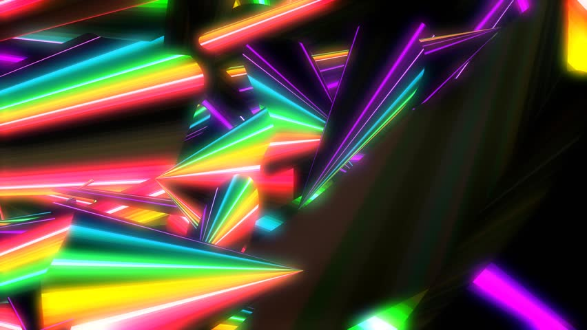 Glowing neon abstract background