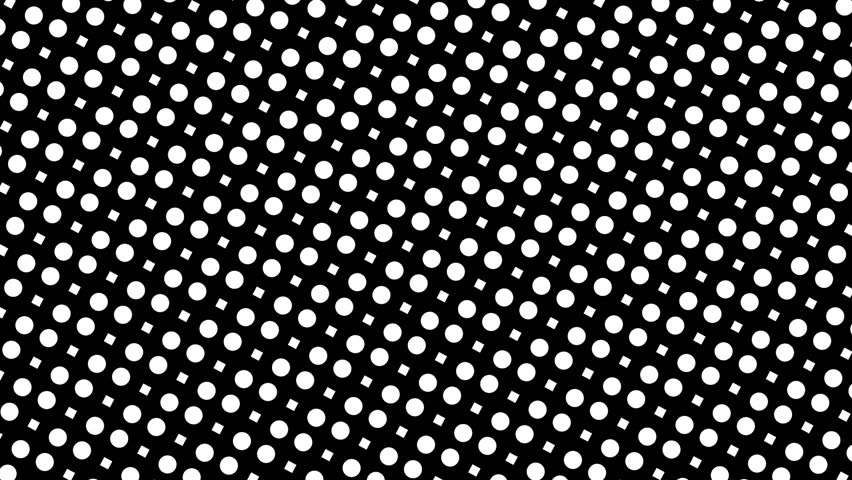 Wavy contracting black and white diamonds and circles. Seamlessly looping motion background for music videos, broadcast, tv, film, editing, live visuals, VJ loops,  shows, or art.