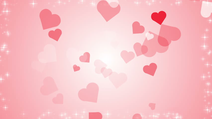3d Abstract Valentines Day Background With Floating Hearts Stock ...