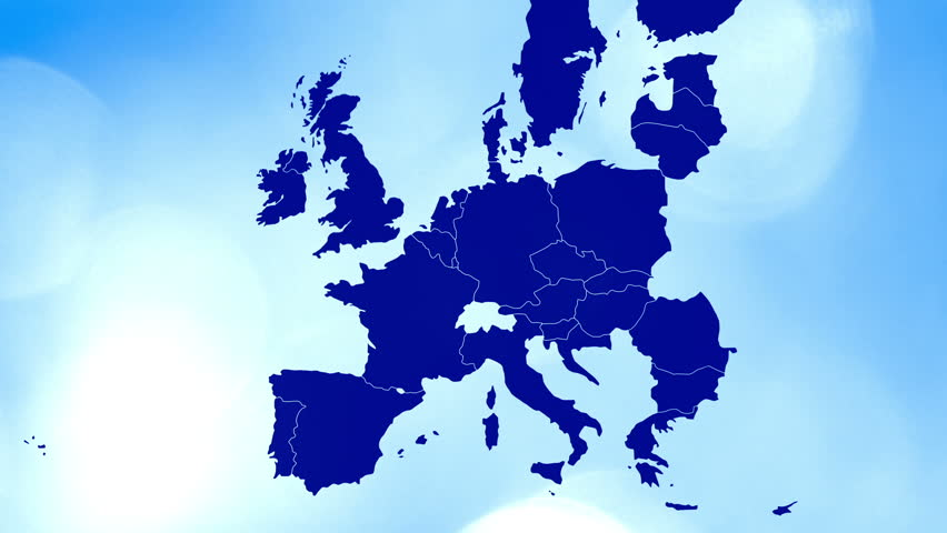D Animation Of Europe Map Formed By Individual Countries Stock - Bokeh us map