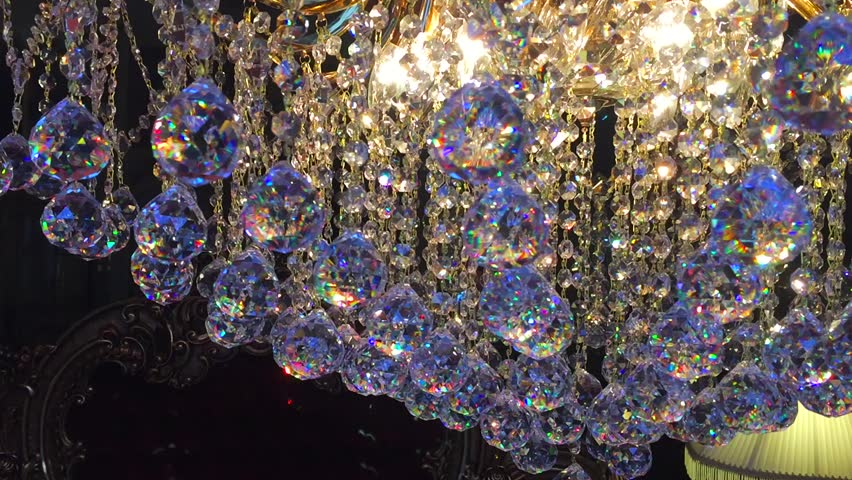 Rotating Crystal Chandelier Closeup Stock Footage Video 18005248 ...