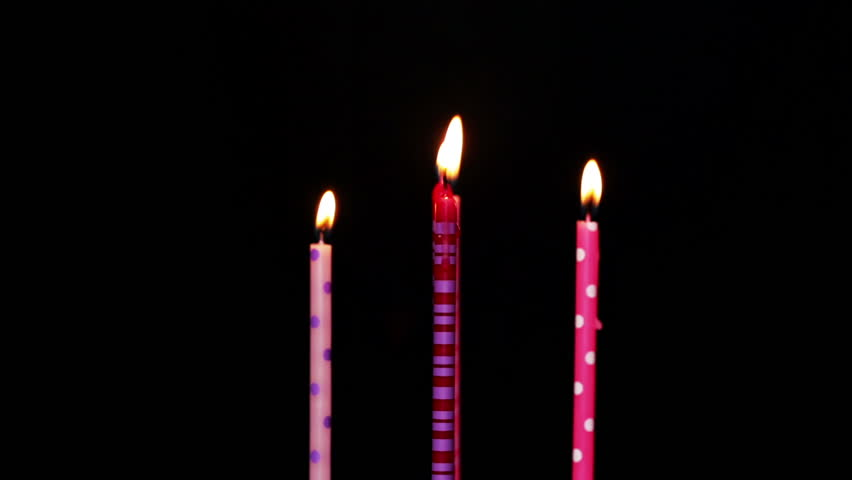 Happy Birthday Candles 5 Year Blurred