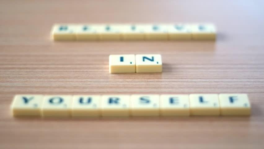 Sliding Focus On Words - Believe in Yourself