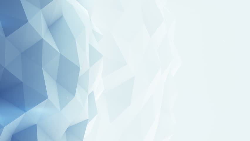 Light Blue Polygonal Background. Abstract Stock Footage