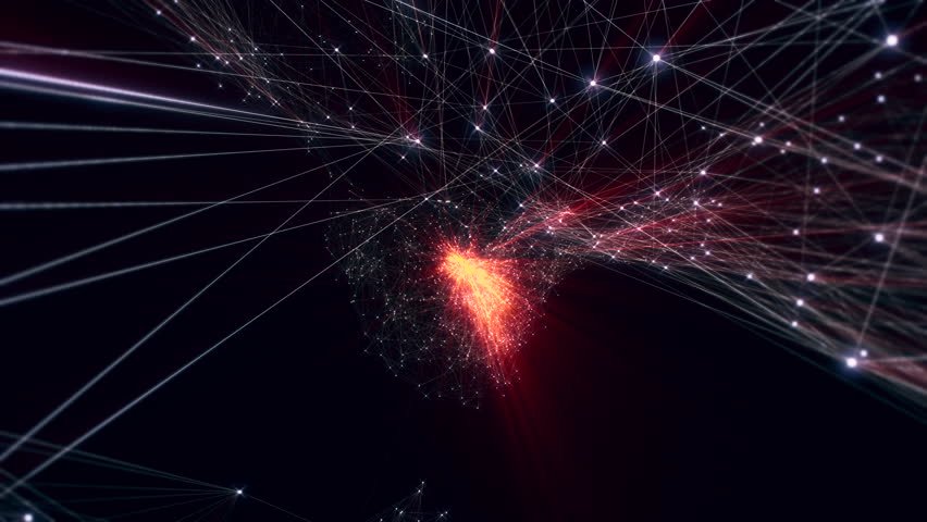 Animation of growing connected particles. Perfect loop. Fly through a network of connected dots. | Shutterstock HD Video #18062521