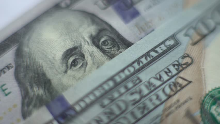 100 dollar bill. Macro.   Shutterstock HD Video #18070351