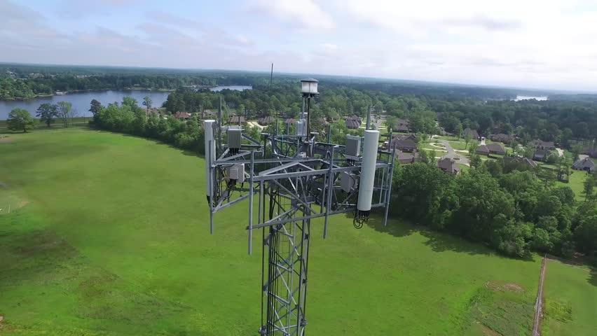Cell tower near Benton, Louisiana