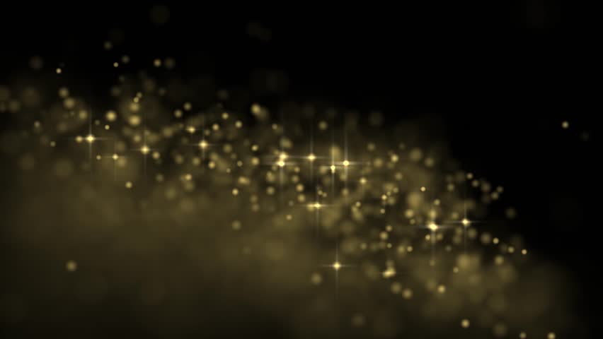 Golden glowing star particle in random direction  3D render abstract background  animation motion graphic with copy space on black background  | Shutterstock HD Video #18098011