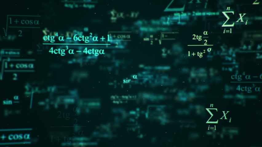 Animation of typing mathematics and physics formulas in abstract digital space. Animation of seamless loop. | Shutterstock HD Video #18115264