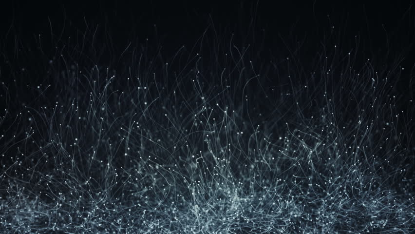 Abstract background with animation of slow moving particles. Animation of seamless loop. | Shutterstock HD Video #18169120