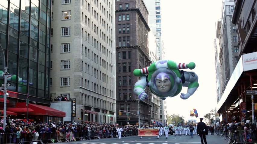 NEW YORK CITY, NY - NOVEMBER 24: Buzz Lightyear Balloon in Macy's 85th Annual Thanksgiving Day Parade on November 24, 2011 in New York City, New York.