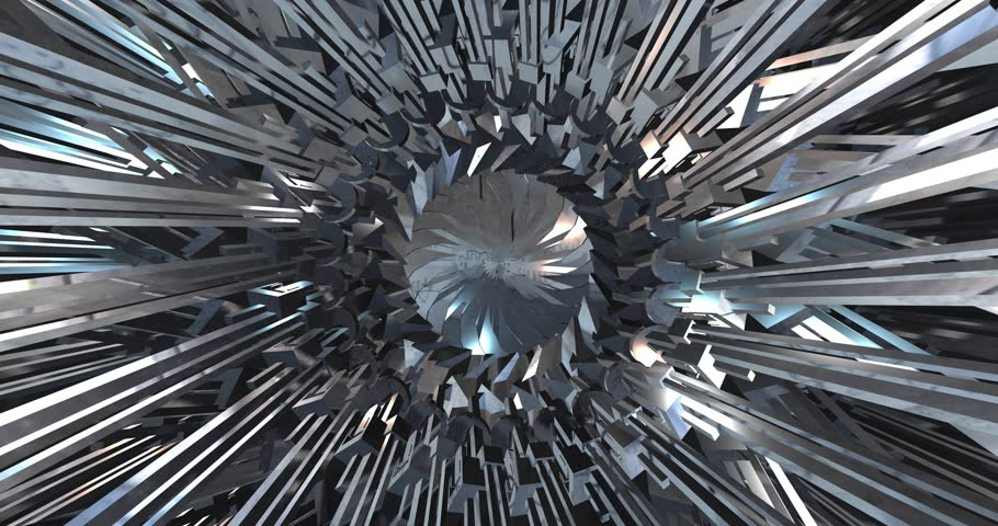 Iron transformer. Polygonal geometric surface. computer generated seamless loop abstract motion background. 4k | Shutterstock HD Video #18215701