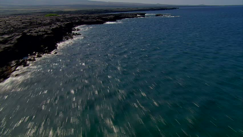 Fly over of rocky coastline | Shutterstock HD Video #1823471