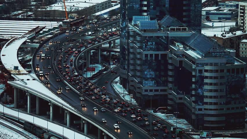Traffic in winter Moscow.  | Shutterstock HD Video #18283651