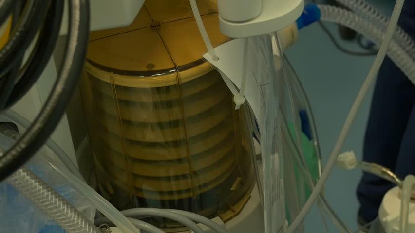 Oxygen supply machine workin in hospital