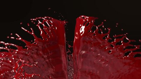 Ketchup, Blood, Red liquid Splashing.