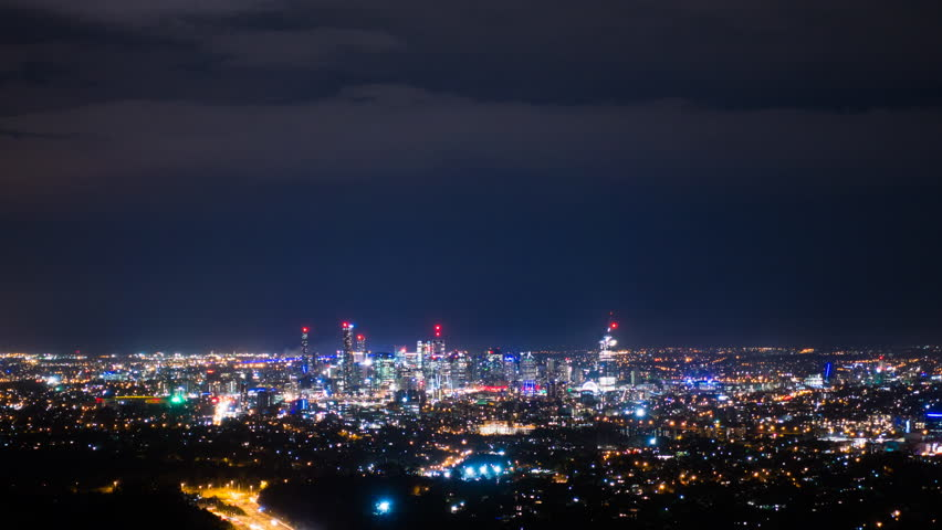 Time lapse of Brisbane night sky | Shutterstock HD Video #18326281