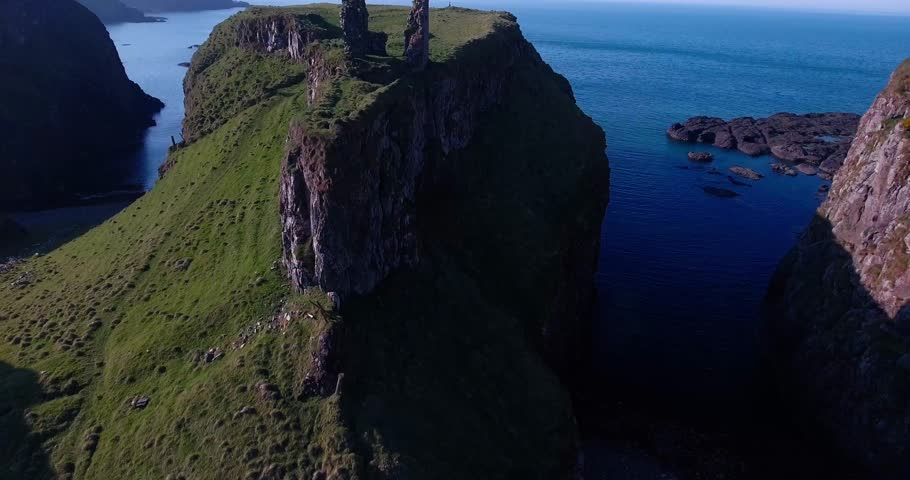 Small Castle Ruins in Ireland - Aerials | Shutterstock HD Video #18350521
