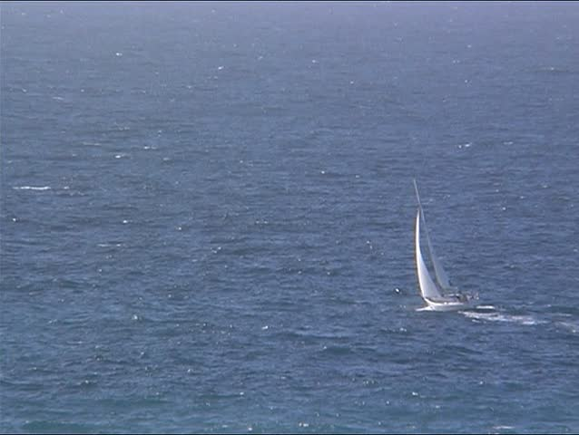 Sailingyacht from Top