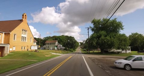A personal perspective of driving in a typical western Pennsylvania small town or residential neighborhood.