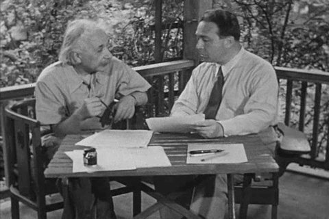 Theoretical physicists of the twentieth century, Albert Einstein, and J. Robert Oppenheimer continue to explore the relationship of time and space in the 1950s. (1950s)