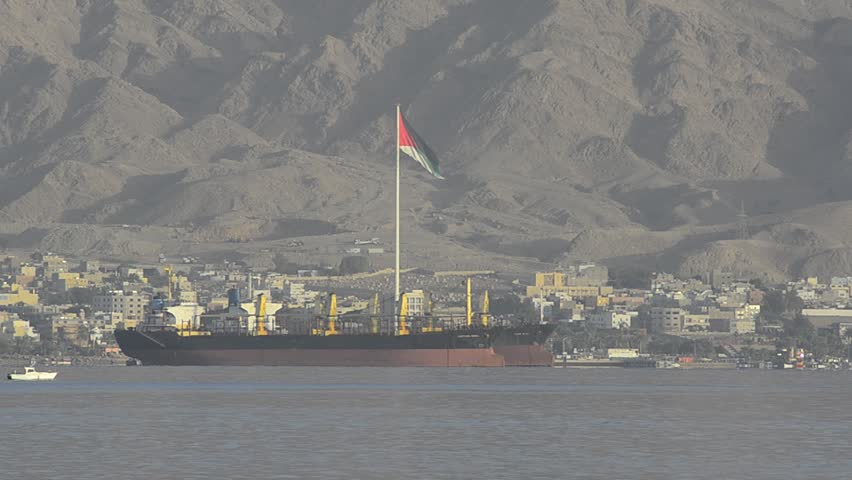 The Great Arab Revolt Flag in Aqaba, Jordan was erected to commemorate the Arab Revolt of 1916 against Ottoman Empire, the flag is the biggest one in the Middle East