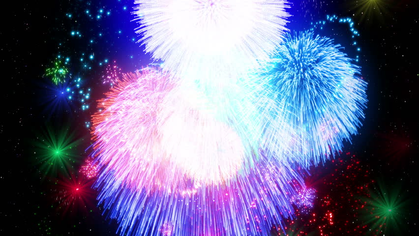 Fireworks Festival Particles CG background   Shutterstock HD Video #18496771