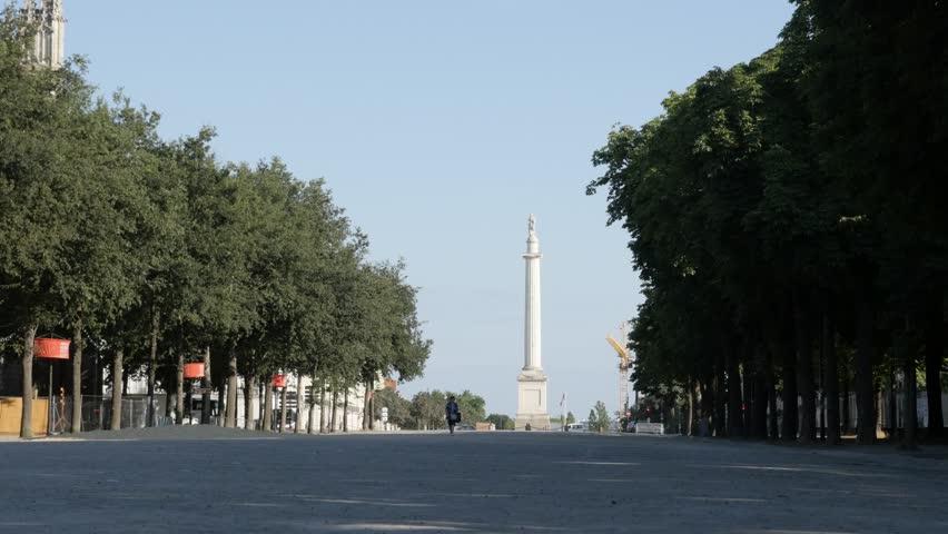 nantes july 2016 monument of dead of war 1870 aka le monument aux morts de la guerre