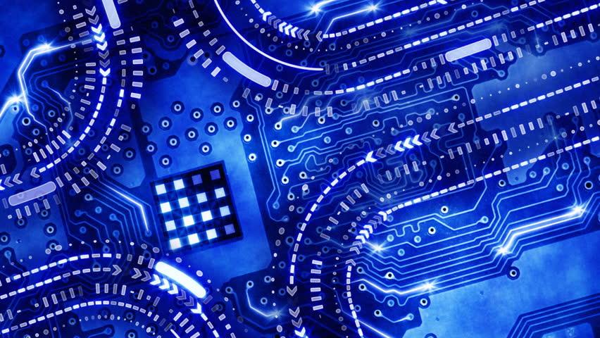 Blue Technology: Blue Technology Themed Still Video Lower Third