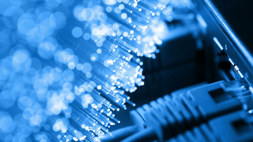 Ethernet cable and server with Fiber optics background, shot in HD | Shutterstock HD Video #18622841