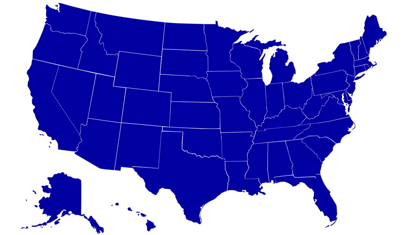 USA Map Michigan Pull Out No Signs Or Letters So You Can Insert - Usa map no states