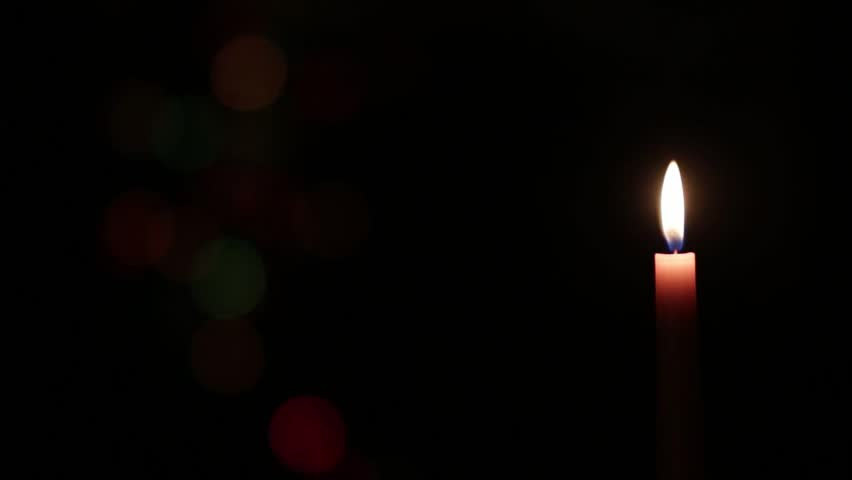 Light In Dark Room candle light on the dark room stock footage video 17676670