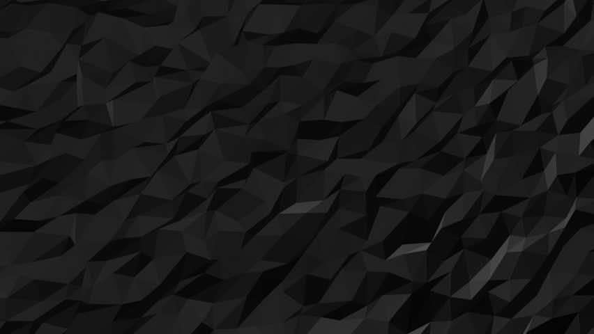 Abstract Black Fluid Low Poly Stock Footage Video 40% Royaltyfree Custom Black Pattern