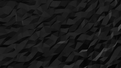 Abstract Black Fluid Low Poly Pattern, seamless looping Background Pattern Motion Design