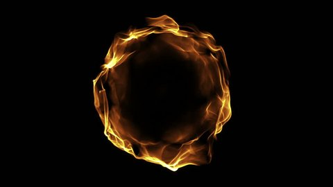 Fire ball animation, seamless loop