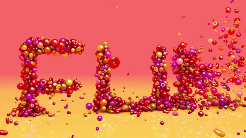 Fun. 3d animation. Birthday, celebration, vacation, holiday  background with text from candy.  | Shutterstock HD Video #18746441