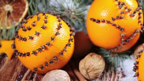 Dried Oranges With Nuts And Stock Footage Video 100 Royalty Free