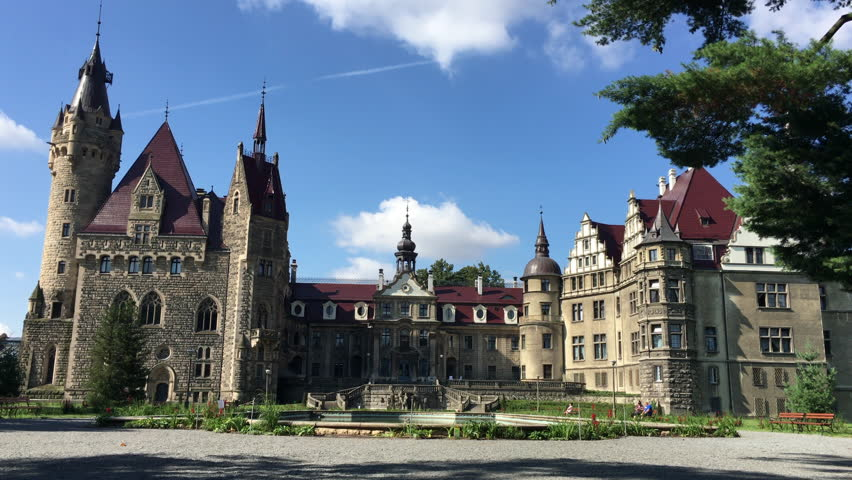 moszna poland august 7 the moszna castle is a historic castle located in - Blue Castle 2016