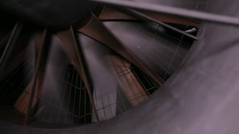 Propeller in wind tunnel start up and run