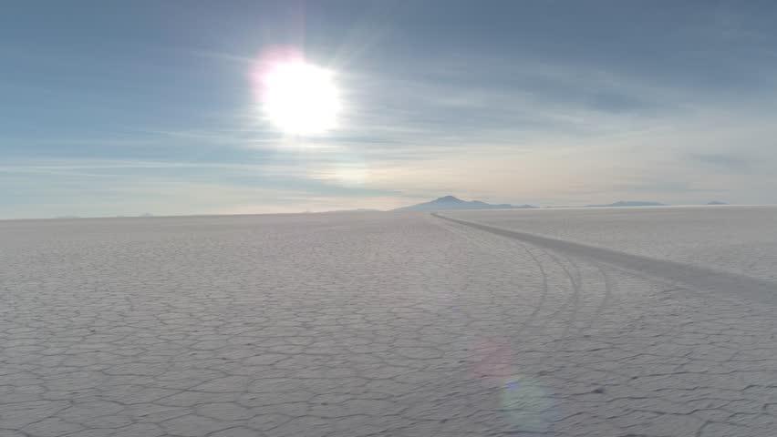 salar de uyuni sunset Bolivia aerial shot