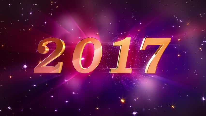 New Year 2017 Opening Animation High Quality Best For Years Eve Friends Party And Other Event Royalty Free Stock