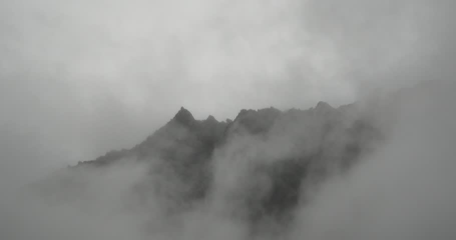 4k time lapse of mountain mist rising in the morning,fog pine trees,such as wonderland.Bomi County in tibet,the largest precipitation area in China.