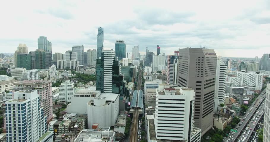 Beautiful modern buildings of the Asian metropolis. Filming drone   Shutterstock HD Video #18962792
