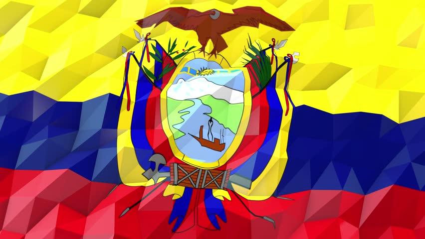 Flag Of Ecuador 3d Wallpaper Illustration Royalty Free Video