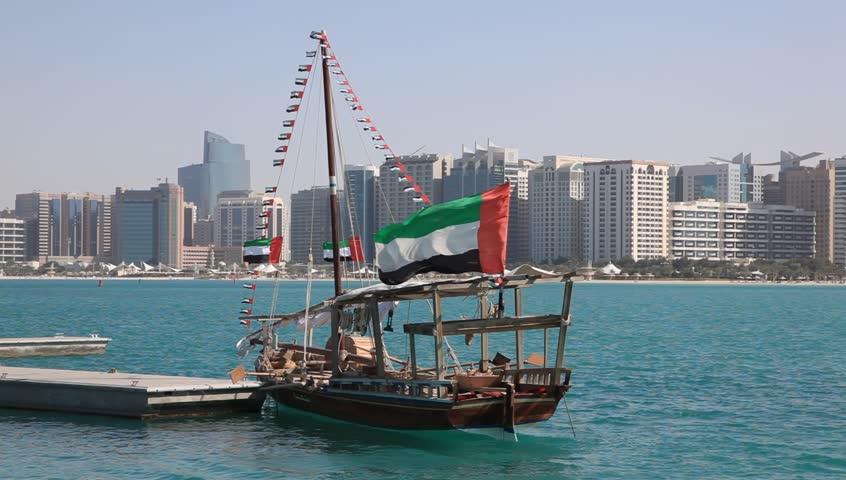 Traditional arabic dhow in Abu Dhabi, UAE