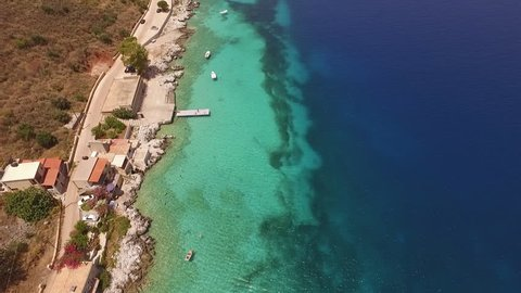 The beautiful gulf of Limeni in Mani, Peloponnese.