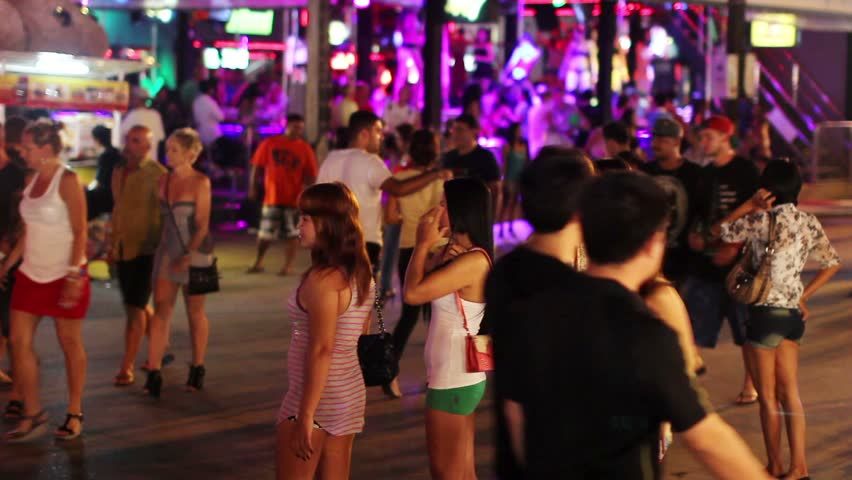 PATONG - 25 OCTOBER 2011: Prostitutes are waiting for customers in Phuket, Thailand.