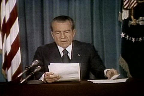 President Richard Nixon discusses his reluctance to release the Watergate tapes in at the release of the Watergate tapes in the 1970s. (1970s)