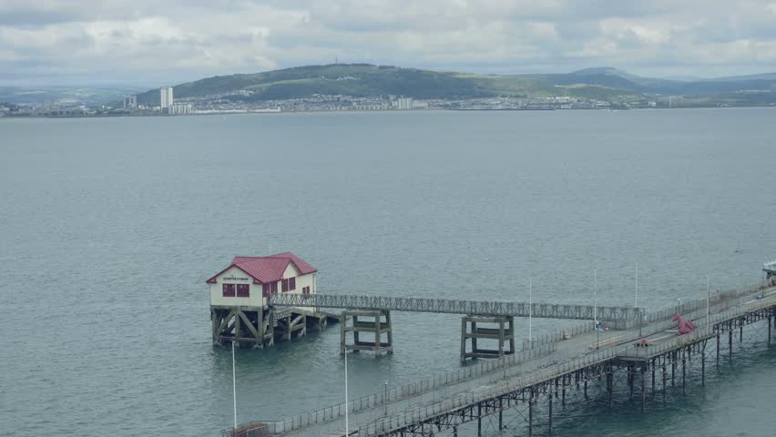 Still Shot of Mumbles Pier in Swansea